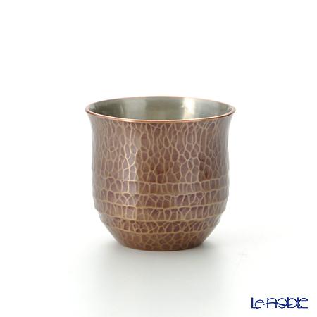 【伝統工芸】燕鎚起銅器(純銅)ぐい呑 帯条文・素銅色 Cu-G-3 60cc