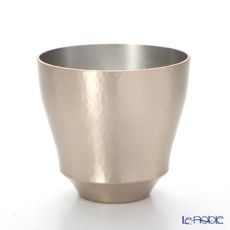 【伝統工芸】燕鎚起銅器(純銅) ロックカップ Cu-G-8 200cc 白金
