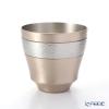 Crafts yan origins of beaten copperware (pure copper) Rock Cup CU-g-19 200cc Goza eyes / Platinum