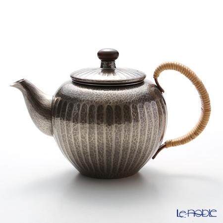 【伝統工芸】燕鎚起銅器(純銅) 急須 金いぶし E-2-4 500cc 茶漉し付