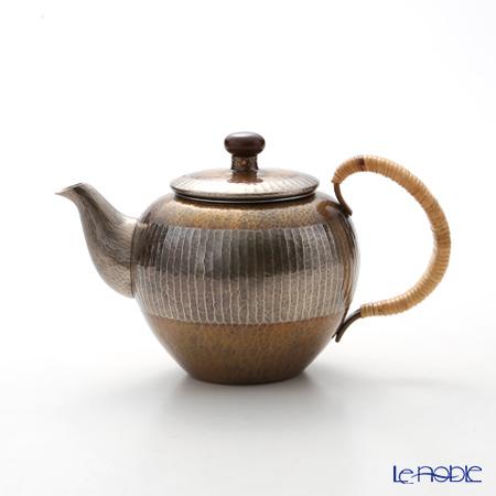 【伝統工芸】燕鎚起銅器(純銅) 急須 金いぶし E-2-5 500cc 茶漉し付