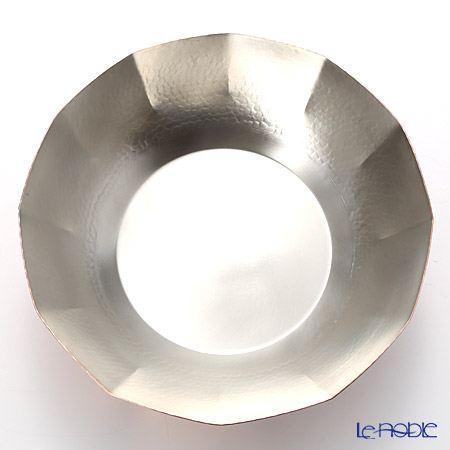 Tsubame Tuiki Copperware 'Hammer Mark' Dodecagon Shabu-Shabu Pot 29.5cm (induction-safe)