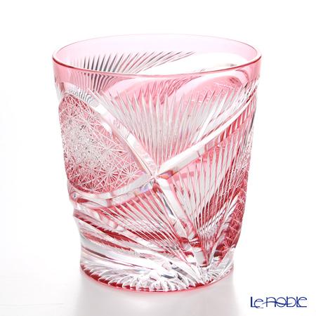 Nemoto Glass / Edo Kiriko Flashed Glass 'Hishou' Bronz-Red OF Tumbler