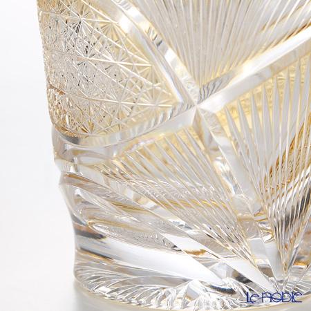 Nemoto Glass / Edo Kiriko Flashed Glass 'Hishou' Amber Yellow OF Tumbler