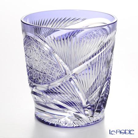 Nemoto Glass / Edo Kiriko Flashed Glass 'Hishou' Purple OF Tumbler