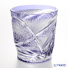 Nemoto Glass industrial art Edo kiriko cut glass old Flying purple * Edo kiriko cut glass craft: Nemoto Tatsuya's works *