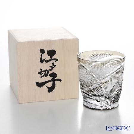 Nemoto Glass / Edo Kiriko Flashed Glass 'Hishou' Usuzumi / Light Ink OF Tumbler