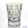 Nemoto Glass industrial art Edo kiriko cut glass old Chrysanthemum checkered usuzumi * Edo kiriko cut glass craft: Nemoto Tatsuya Mr. works *