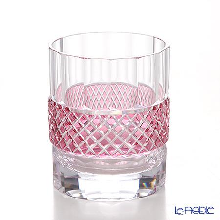 Takumi Cut-Glass Factory / Kiriko Flashed Glass 'Sa Aya' Bronz-Red OF Tumbler 260ml 2009-4-R 创作萨摩切子 '纱绫' 金红色 古典杯