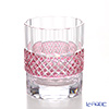 Takumi Cut-Glass Factory / Kiriko Flashed Glass 'Sa Aya' Bronz-Red OF Tumbler 260ml 2009-4-R 创作萨摩切子 '纱绫' 金红色 古典杯