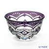 Nemoto Glass Edo kiriko sake Cup Purple