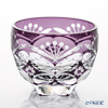 Nemoto Glass Edo kiriko sake small, round Cloisonne violet * Edo kiriko cut glass craft: Nemoto Tatsuya said made *