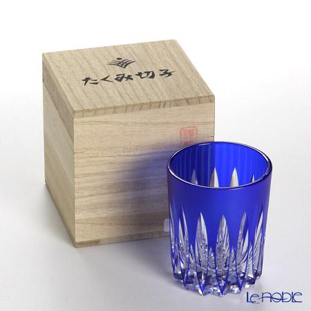 創作薩摩切子 剣菱 ぐいのみ瑠璃 2005-6-L