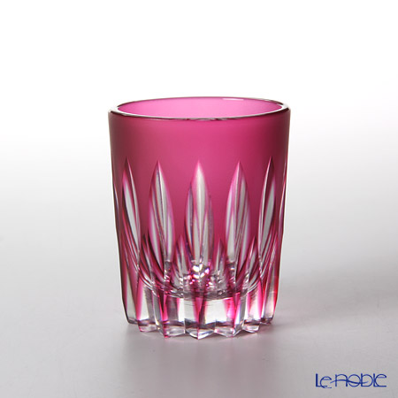 Takumi Cut-Glass Factory / Kiriko Flashed Glass 'Kenbishi' Bronz-Red Sake Tumbler 90ml 2005-6-R 创作萨摩切子 '剑菱' 金红色 酒杯