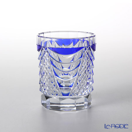 Takumi Cut-Glass Factory / Kiriko Flashed Glass 'Shou' Azure Blue Sake Tumbler 90ml 2005-7-L 创作萨摩切子 '翔' 琉璃蓝色 酒杯