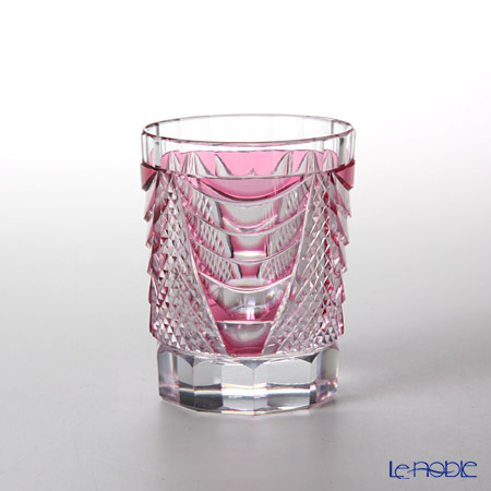 Takumi Cut-Glass Factory / Kiriko Flashed Glass 'Shou' Bronz-Red Sake Tumbler 90ml 2005-7-R 创作萨摩切子 '翔' 金红色 酒杯