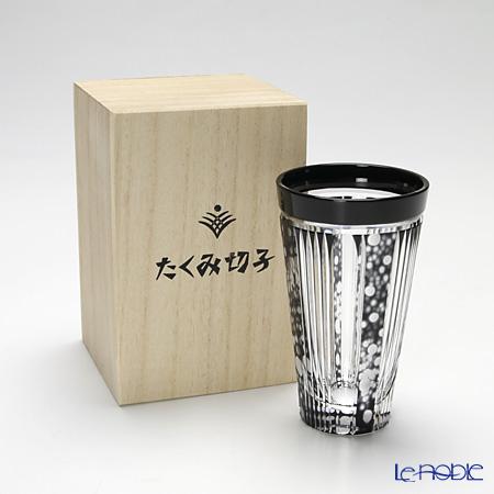 創作薩摩切子 ほたる 一口ビールブラック 2004-12-BK