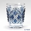 創作薩摩切子 氷割杯 丸六角籠目薩摩ブルー 太-R-18