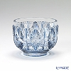 Takumi Cut-Glass Factory / Creation Satsuma Kiriko Flashed Glass 'Ai Giku' Satsuma Blue Sake Cup / Bowl 太-7 创作萨摩切子 '蓝菊' 萨摩蓝色 酒杯(小菜碗) [高桥太久美先生作品]
