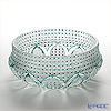Nemoto Glass / Edo Kiriko Flashed Glass 'Kiku Kagome mon' Green Bowl 23cm