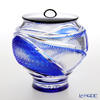 Nemoto Glass Edo kiriko color coat cut water finger Flying Blue * Edo kiriko cut glass craft: root Yukio's pieces *