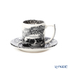 Spod 'Black Italian' [250th Anniversary Collection] Espresso Coffee Cup & Saucer 90ml