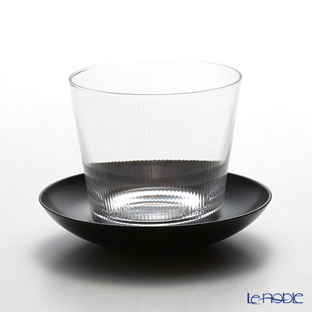Shotoku Glass Million Cup for cold tea with coaster 180cc 1901002