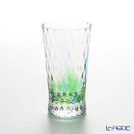 松徳硝子 レインボー 2200411 ビアグラス(一口ビールグラス) グリーン 130cc