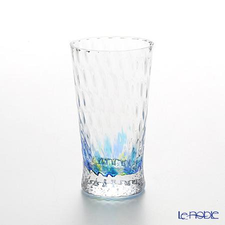 松徳硝子 レインボー 2200412 ビアグラス(一口ビールグラス) ブルー 130cc