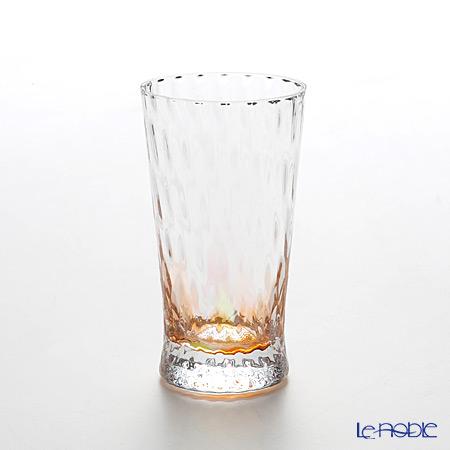松徳硝子 レインボー 2200414 ビアグラス(一口ビールグラス) オレンジ 130cc