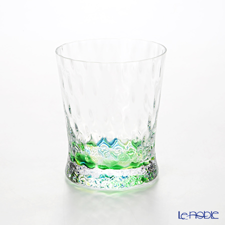 Shotoku Glass 'Rainbow' Green OF Tumbler 200ml