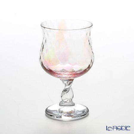 松徳硝子 レインボー 2260414 ワイングラス オレンジ 160cc