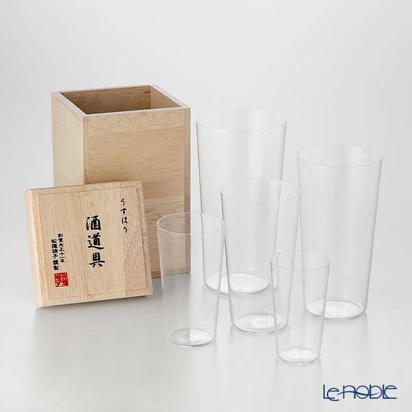 松徳硝子 うすはり 酒道具 【木箱入】