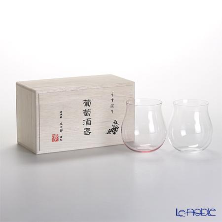 松徳硝子 うすはり葡萄酒器 ブルゴーニュ 2個 紅白組 【木箱入】