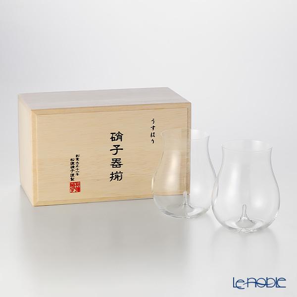 松徳硝子 うすはり 3021020 大吟醸 ペア 【木箱入】