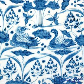 Jingdezhen porcelain blue flowers Yuanyang Lotus Crest lingzhi mouth Edition B3-5 45.5 cm