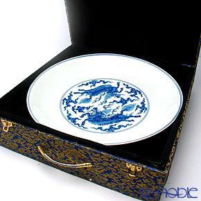 View Tak Jingdezhen blue flowers Kirin Crest pot Edition C3-9 36.5 cm