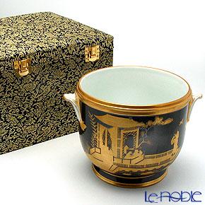 Jingdezhen Porcelain 'Gold & Black / Landscape' Bowl with handles