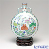 Jingdezhen Porcelain 'Contrasting Color / Flowers' Flat Round Bottle H27.5cm