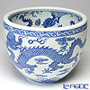 Jingdezhen Porcelain 'Blue & White / Dragon & Ball' Bowl 31.5cm (L)