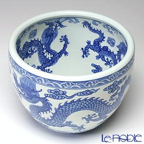 Jingdezhen Porcelain 'Blue & White / Dragon & Ball' Bowl 26cm (M)