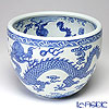 Jingdezhen porcelain blue flowers Dragon Pearl cupping glass E0-01 () 26cm