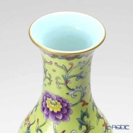 景徳鎮 萬壽連延圖長頸葫蘆瓶40cm
