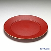 Laque Nouveau 'Gold Glitter' Red Round Charger Plate 32cm