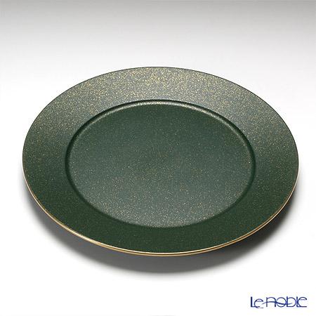 Laque Nouveau charger plate Christmas Green