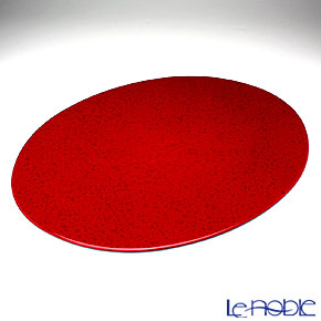 ラックヌーボー マーブルコレクション 楕円型プレースマット(L) レッド