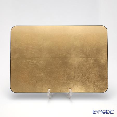 Laque Nouveau 'Plane' Gold Rectangular Placemat 45.5x31.5cm (L)