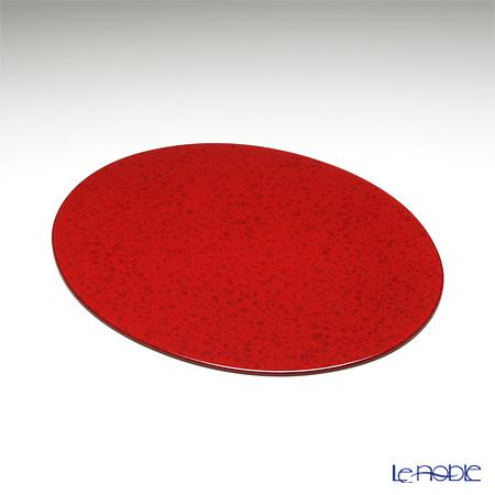ラックヌーボー マーブルコレクション 楕円型プレースマット(S) レッド