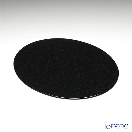 ラックヌーボー マーブルコレクション 楕円型プレースマット(S) ブラック