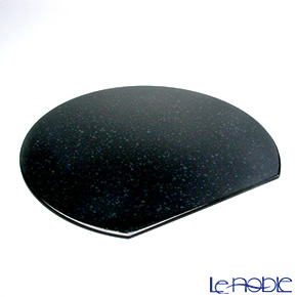 ラックヌーボー マーブルコレクション 半月型プレースマット(L) ブラック